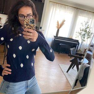 J crew polka dot sweater